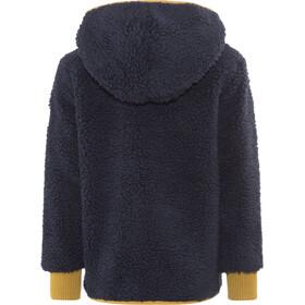 Finkid Tonttu Teddy Zip-In Fleece Jacket Kinder Navy/Harvest Gold